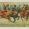 Lieut. A. R. Dunn, 11th Hussars winnign the V.C. in the Charge of the Light Brigade, Balaklava, by saving the life of Sergt. Bentley.