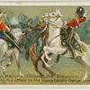 Sergt. Major J. Grieves, 2nd Dragoons (Scots Greys), saving his officer in the heavy cavalry charge at Balaklava.