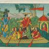 [Krishna and Gopi on the river Yamuna.]