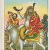 [Shiva, and Parvati riding the bull Nandi.]