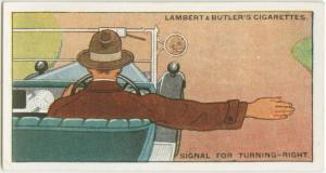 Signal for turning - right.