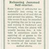 releasing jammed self-starter.