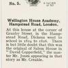 Wellington House Academy, Hampstead Read, London.