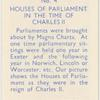 Houses of Parliament in the time of Charless II.