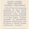 Saxon Tower, Earl's Barton Church, Northants.