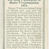 The King's champion at Henry V's Coronation, 1413.