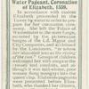 Water pageant coronation of Elizabeth, 1559.
