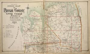 Upper section Index Map of Nassau County Long Island Published by E. Belcher Hype. 97 Liberty St. Brooklyn, 5 Beekman St. Manhattan. 1914.