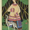 Woman with deer].