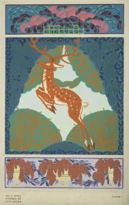 [Leaping deer motif]