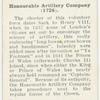 Honourable Artillery Company (1726).
