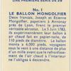 Le Ballon Mongolfier.