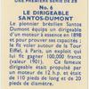 Le Dirigeable Santos-Dumont.