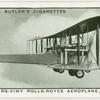 Vickers-Vimy Rolls Royce Aeroplane. 1919.