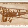 Avro biplane, Type 504, 1914.