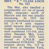 """Met """"K"""" Class loco."""