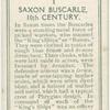 Saxon Buscarle, 10th century.