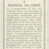 Seaman. 13th cent.