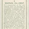 Seaman. 13th cent.