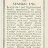 Seaman, 1706.