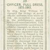 Officer, full dress, 1833-1843.