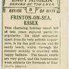 Frinton-on-sea, Essex.