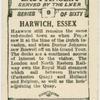 Harwich, Essex.