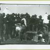 Soldier getting face shaven at Camp Black, Long Island, New York]