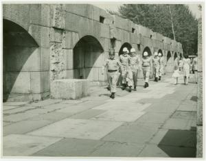 [Men marching at Fort Totten, New York]