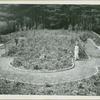 Mrs. Harold Irving Pratt in her garden of tulips and azaleas at her Glen Cove, L.I. New York home