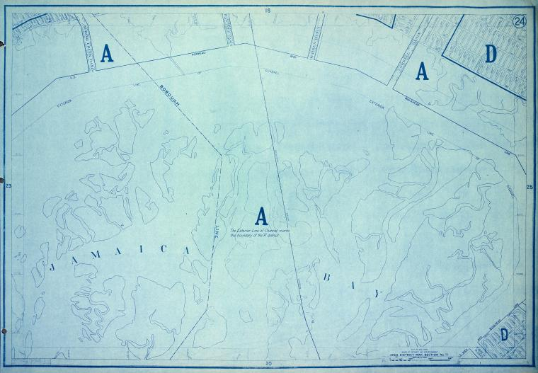 This is What New York and Area District Map Section No. 24 Looked Like  in 1916