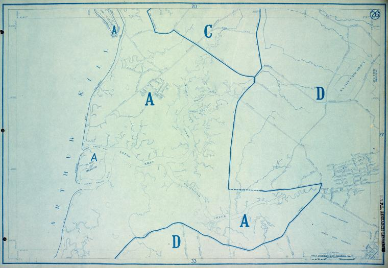 This is What New York and Area District Map Section No. 26 Looked Like  in 1916