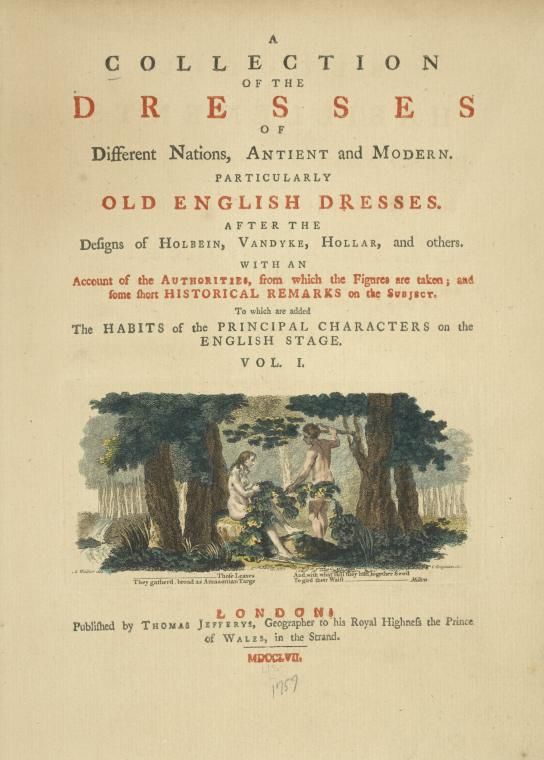A Collection of the dresses of different nations, antient [sic] and modern. [Title page]