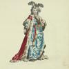 Habit of the sultaness queen in 1749. La sultane reine.