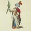Habit of a Turkish standardbearer, in 1749. Porte-Enseigne Turc.