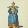 Summer habit of a Chinese mandarin in 1700. Habillement d'ete de'un mandarin Chinois.