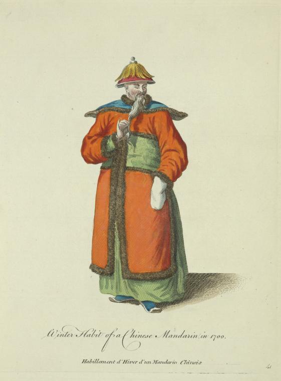 Fascinating Historical Picture of J.-B. Du Halde in 1736