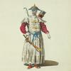 Habit of a mandarin of war in Chinese Tartary in 1700. Mandarin de guerre de la Tartarie Chinoise.