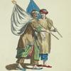 Habit of Moorish pilgrims returning from Mecca in 1568. Pelerins Maures revenant del Mecque.