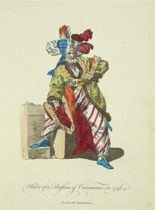 Habit of a bashaw of Caramania in 1749. Bacha de Caramanie.