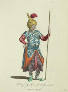 Habit of a gentleman of Persia in 1568. Gentilhomme Persan.