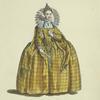 Habit of Queen Elizabeth in 1559. La reine Elizabeth.