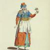 Habit of a Turkish courtezan in 1568. Courtisane Turque.