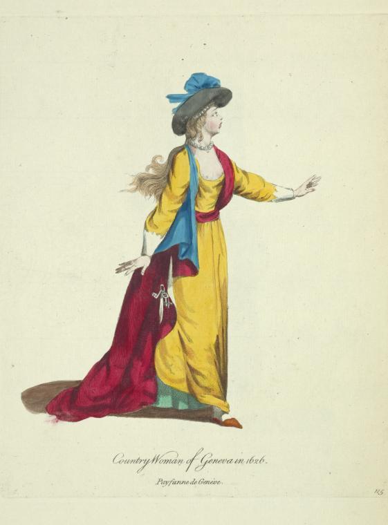 A countrywoman of Geneva in 1626. Paysanne de Geneve.