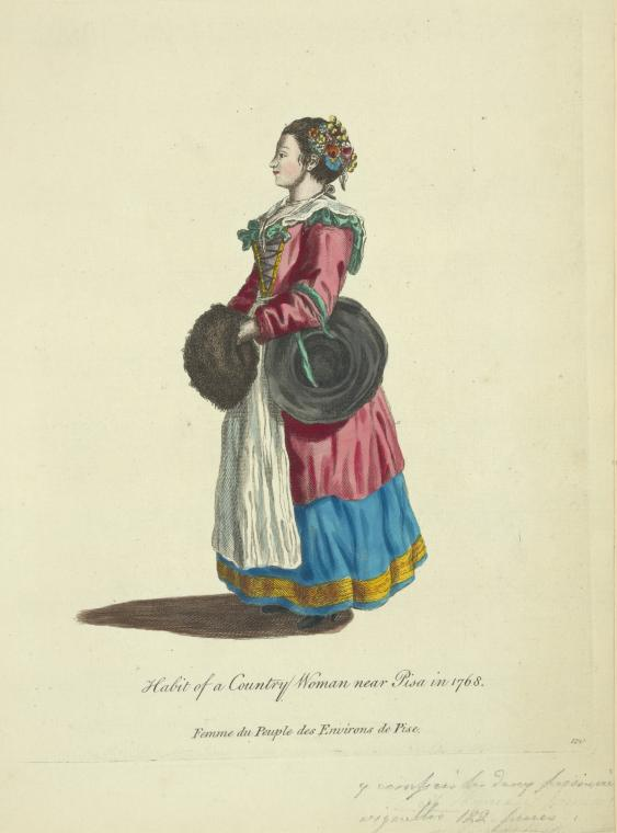 This is What Jean-Baptiste Greuze and Habit of a country woman near Pisa in 1768. Femme du peuple des environs de Pise Looked Like  in 1757