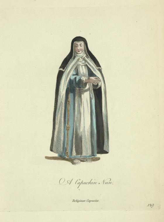 Fascinating Historical Picture of Capuchins in 1710
