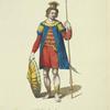 Habit of a Saxon in 447. Ancien Saxon.
