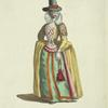 Habit of and English woman in 1626. Dame Angloise.