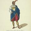 Habit of Cunne Shote a Cherokee Chief. Cunne Shote Chèf des Chiroquois.