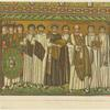 Emperor Justinian making an offering.
